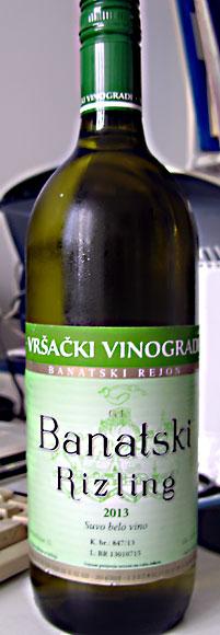 Banatski rizling Vrsacki vinogradi winery