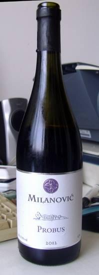probus milanovic winery