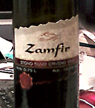 Zamfir red Vinex winery